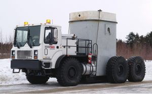 Nuclear waste transporter | TOR truck | Two-man cab