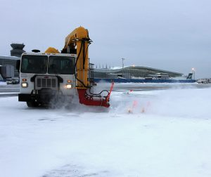 RPM Tech AF1 EVO cold air blowerfor airport winter maintenance operations