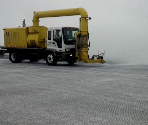 RPM Tech AF1 cold air blower to maintain airport runway