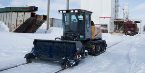 Rail equipment | Cameleon hi-rail | Sweeping of snow and ice