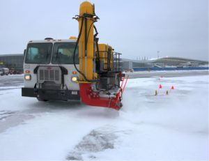AF1 EVO cold air blower for airport runway winter maintenance