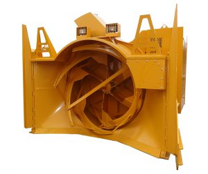 P3500 loader-mounted industrial snow blower ideal for mine sites