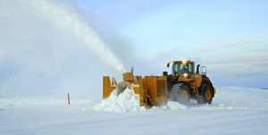 P3500 loader-mounted snow blower | Road clearing | Wet snow