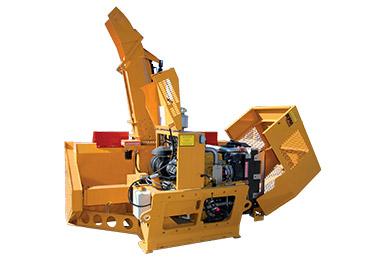 Accès facilité au moteur - souffleuse amovible pour backhoe RPM215