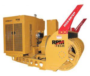 High-capacity RPM48R loader-mounted ribbon snow blower