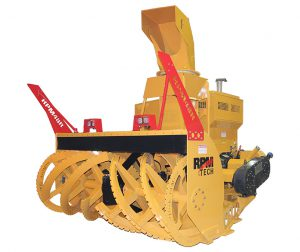 RPM48R loader-mounted industrial snow blower - 5000 tons/hr-