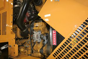 Powerful Diesel engine for large industrial ribbon loader-mounted snow blower