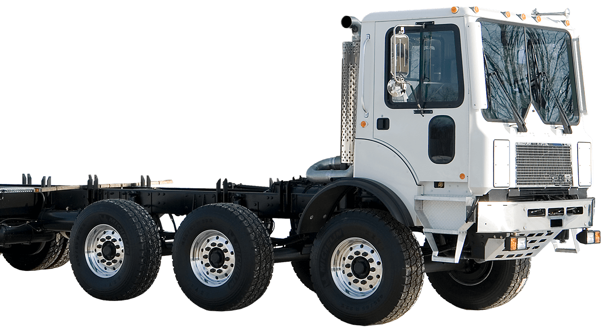 Concrete pump carrier | Custom TOR truck | 7 axles