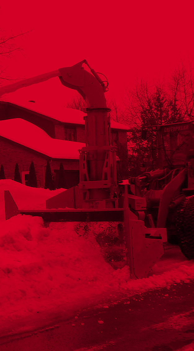 Equipment | Loader-mounted industrial snow blowers