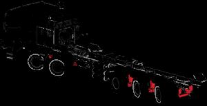 Suspension | Air | Leaf spring | Walking beam | TOR truck