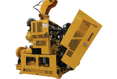 Engine is easily accessible on the RPM40R industrial snow blower