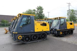 Cameleon Series 2 sidewalk plows ready to be shipped