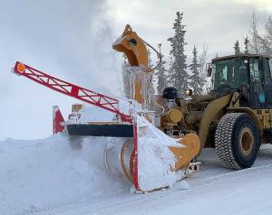 375 hp ribbon loader-mounted RPM Tech snow blower