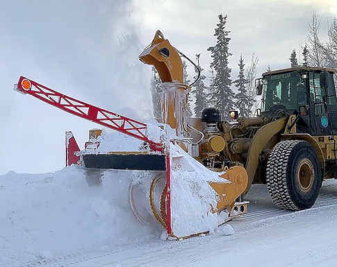 375 hp ribbon loader-mounted RPM Tech snow blower