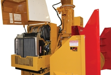 Easy access to engine component - RPM tech municipal snow blowers