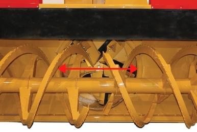 Souffleuse RPM Tech RPM36R avec son tambour surdimensionné