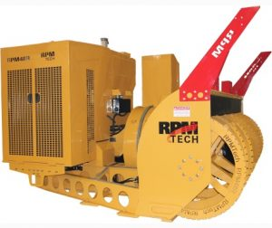 Powerful and large loader-mounted ribbon snow blower by RPM Tech